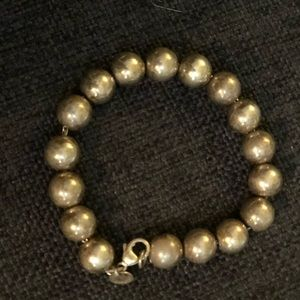 Tiffany and Co. sterling silver beaded bracelet